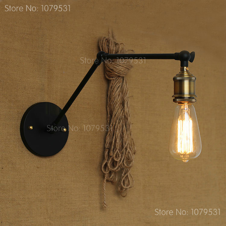 wall mount swing arm lamp photo - 8