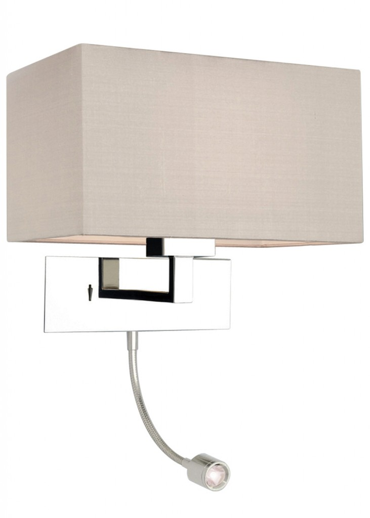wall mounted bedside lamp photo - 2