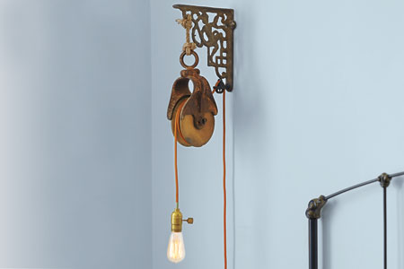 wall mounted lamps with plug photo - 3