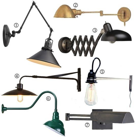 wall mounted lamps with plug photo - 4