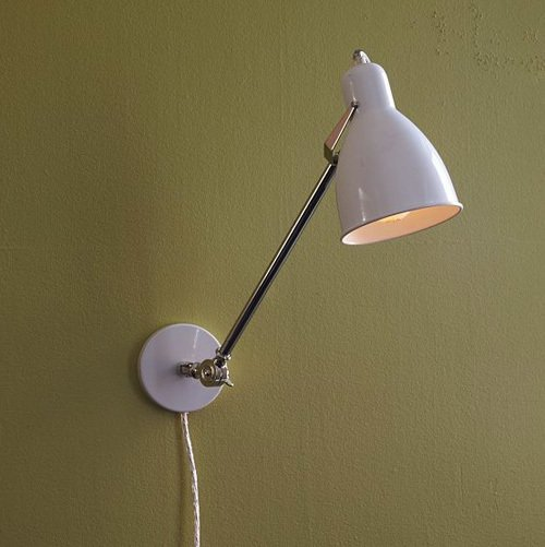 wall mounted lamps with plug photo - 6