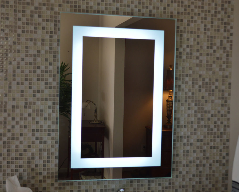 Bathroom vanity mirrors with lights - Wall Mounted Led Lighted Makeup Mirror Photo 10 Wall Mounted Led Lighted Makeup Mirror