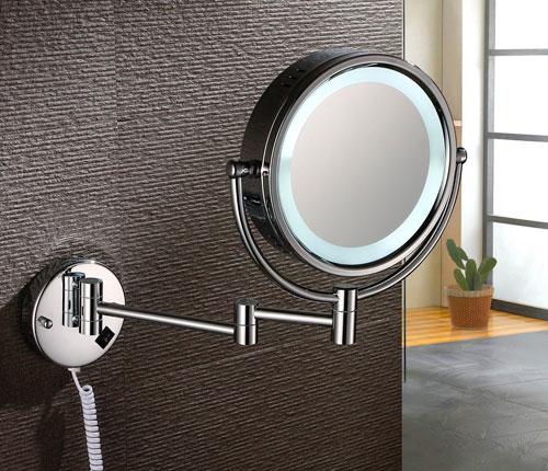 Bathroom Wall Mounted Lighted Magnifying Mirror Photo 1 Warisan Lighting Makeup