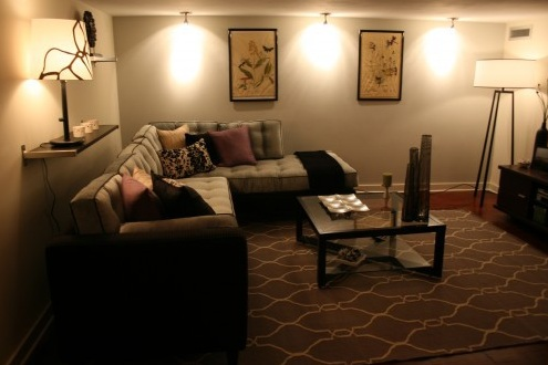 wall mounted lights living room photo - 6