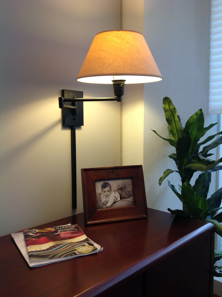 wall mounted swing arm lamps photo - 7