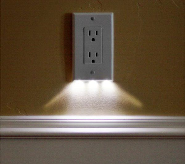 wall outlet night light photo - 2