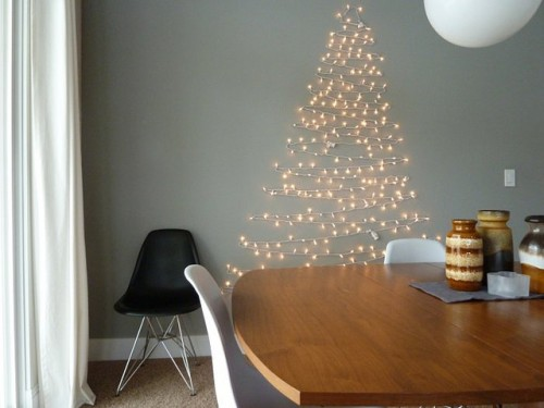 wall tree lights photo - 4
