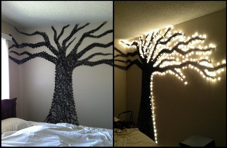 wall tree lights photo - 7