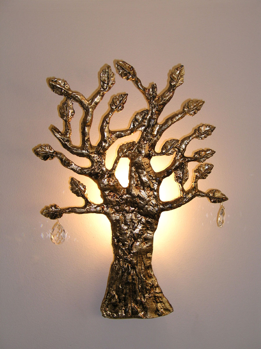 wall tree lights photo - 8