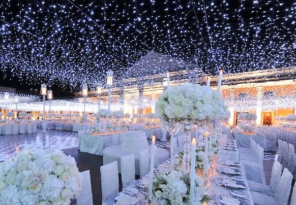 wedding outdoor lights photo - 1
