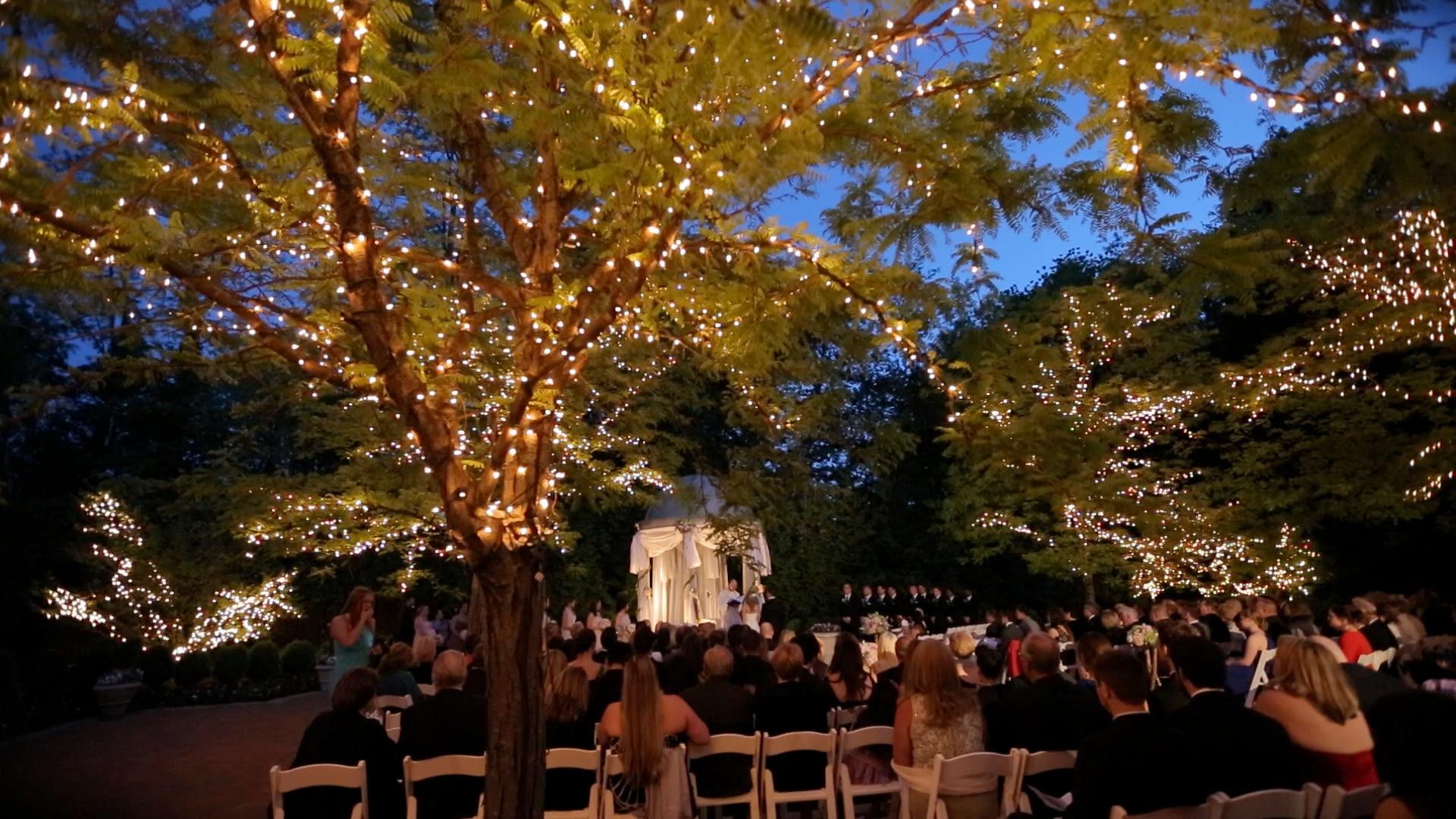 wedding outdoor lights photo - 4