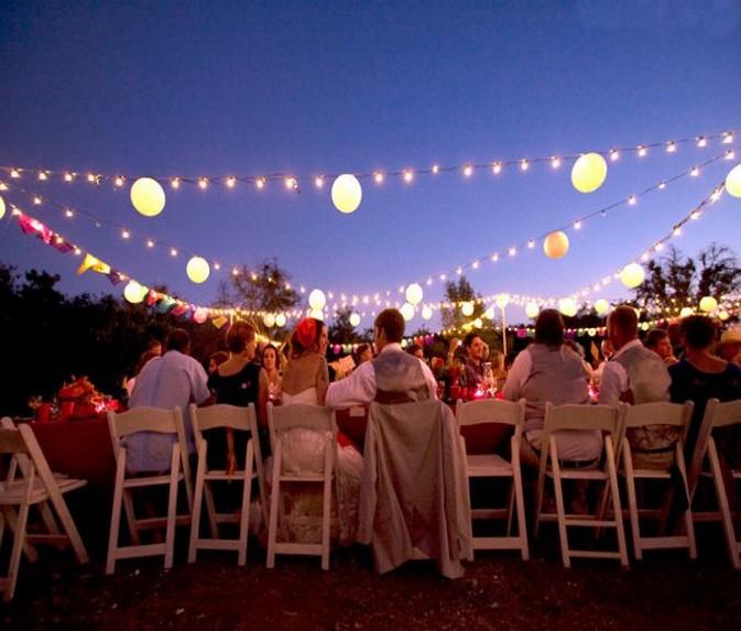 wedding outdoor lights photo - 5