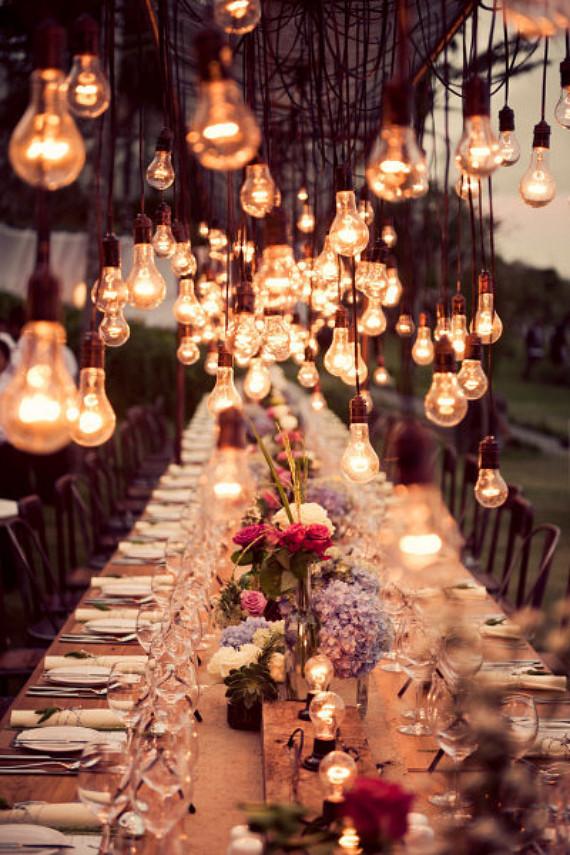 wedding outdoor lights photo - 6