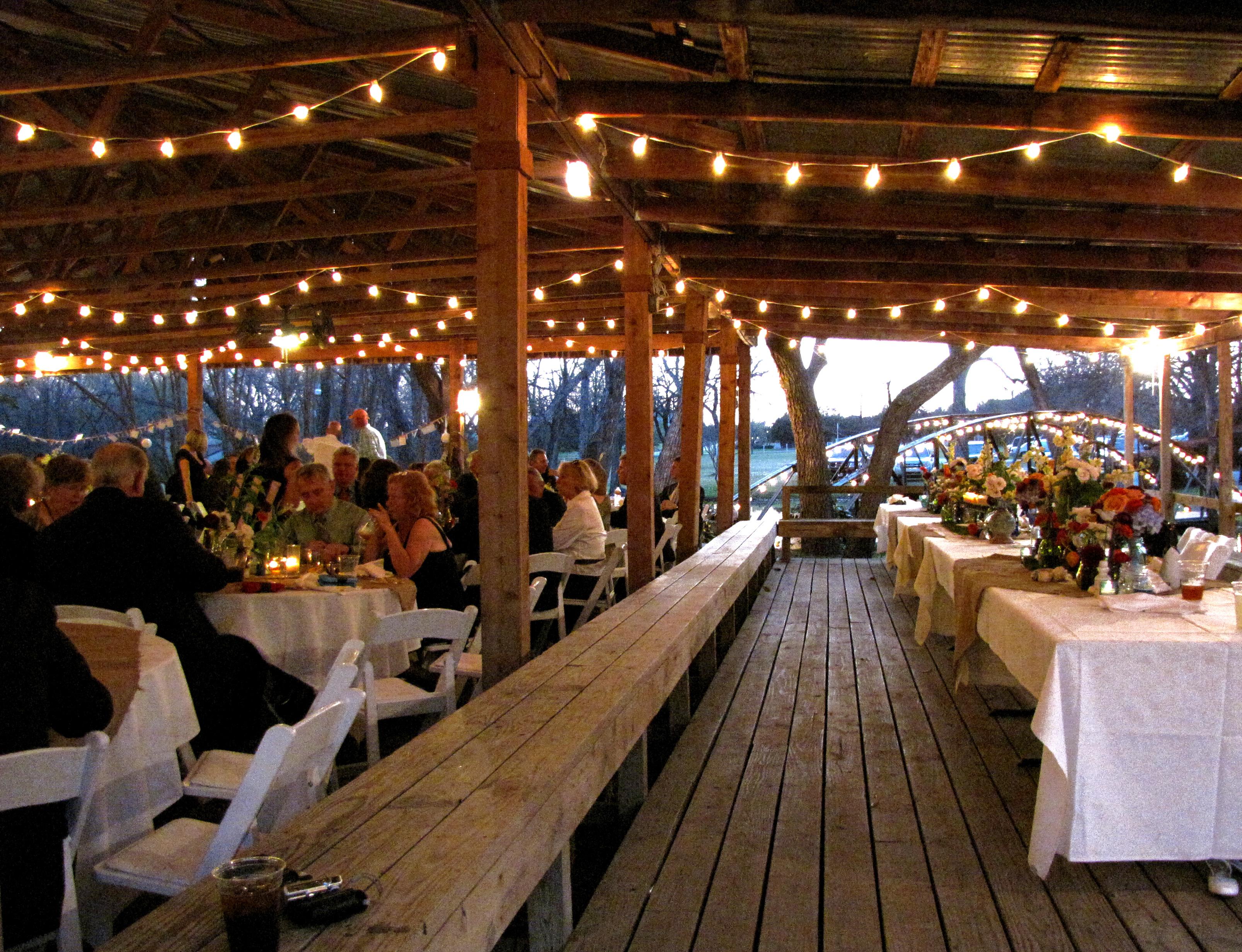 wedding outdoor lights photo - 7