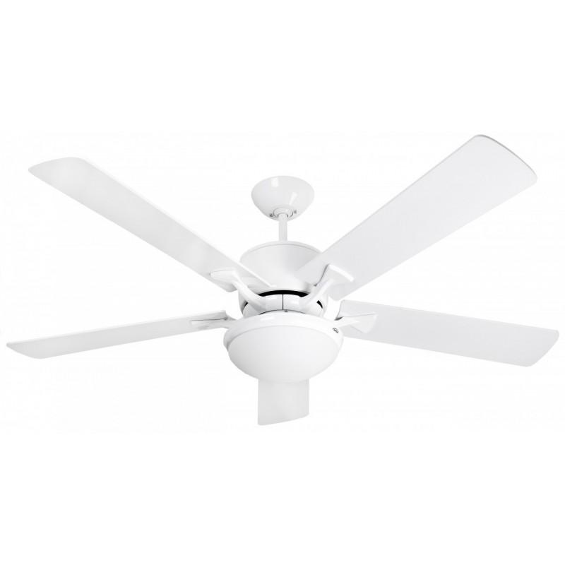 white ceiling fan light photo - 10