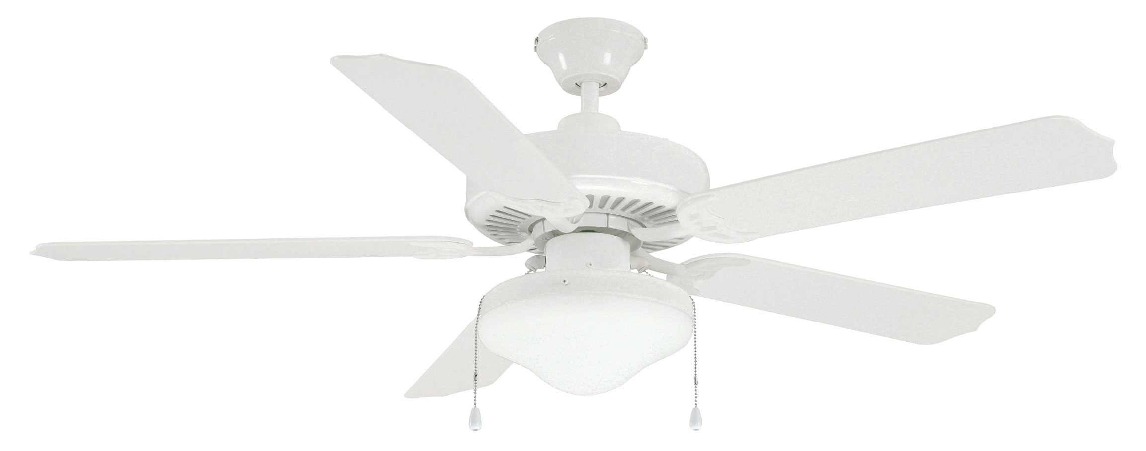 white ceiling fan light photo - 2