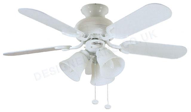 white ceiling fan light photo - 7