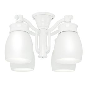 white ceiling fan light kit photo - 7