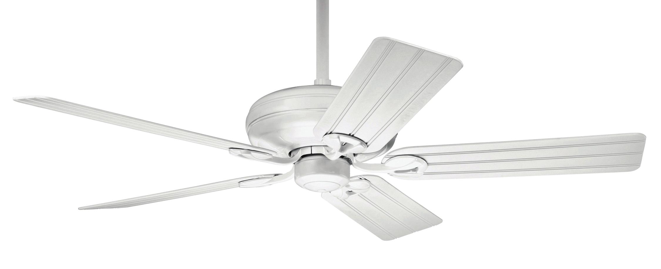 white ceiling fan no light photo - 5
