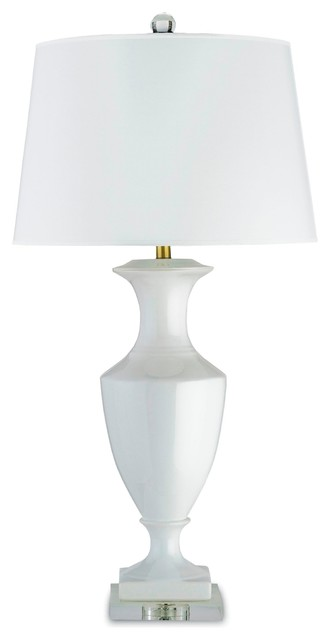 white ceramic lamps photo - 2