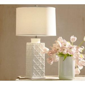white ceramic lamps photo - 4
