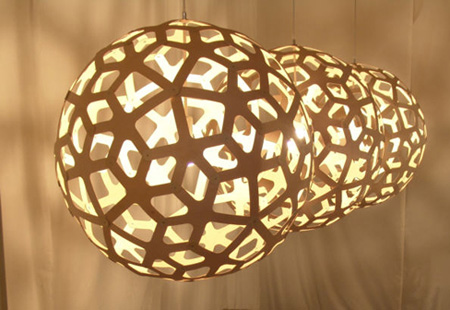 white coral lamp photo - 2