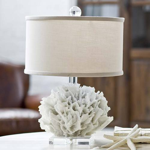 white coral lamp photo - 5