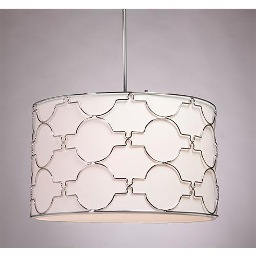 white drum ceiling light photo - 2