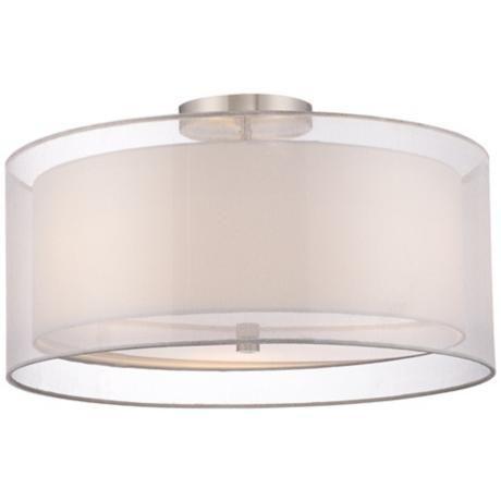 white drum ceiling light photo - 5