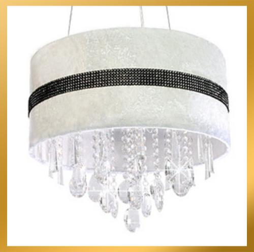 white drum ceiling light photo - 7