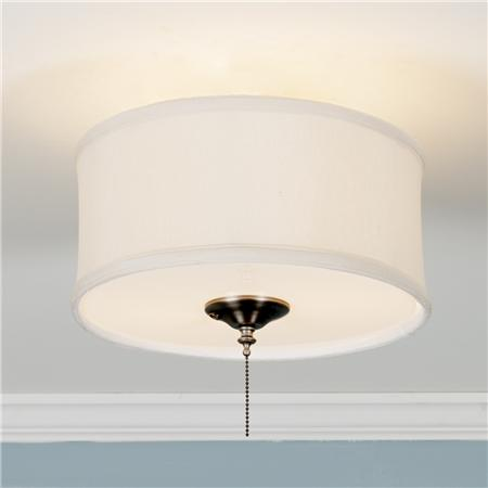 white drum ceiling light photo - 9