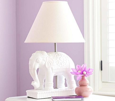 white elephant lamp photo - 1