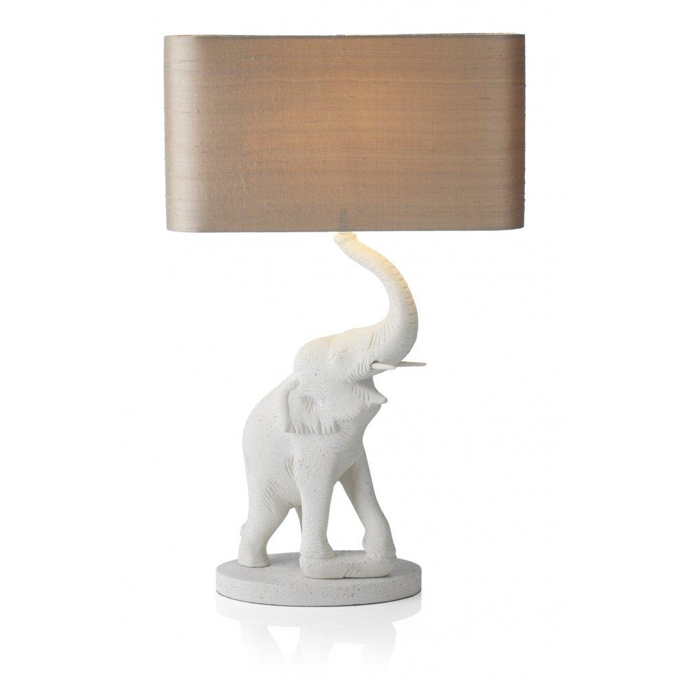 white elephant lamp photo - 2