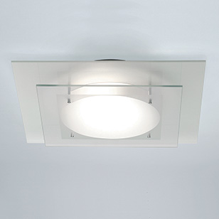 white glass ceiling light photo - 6