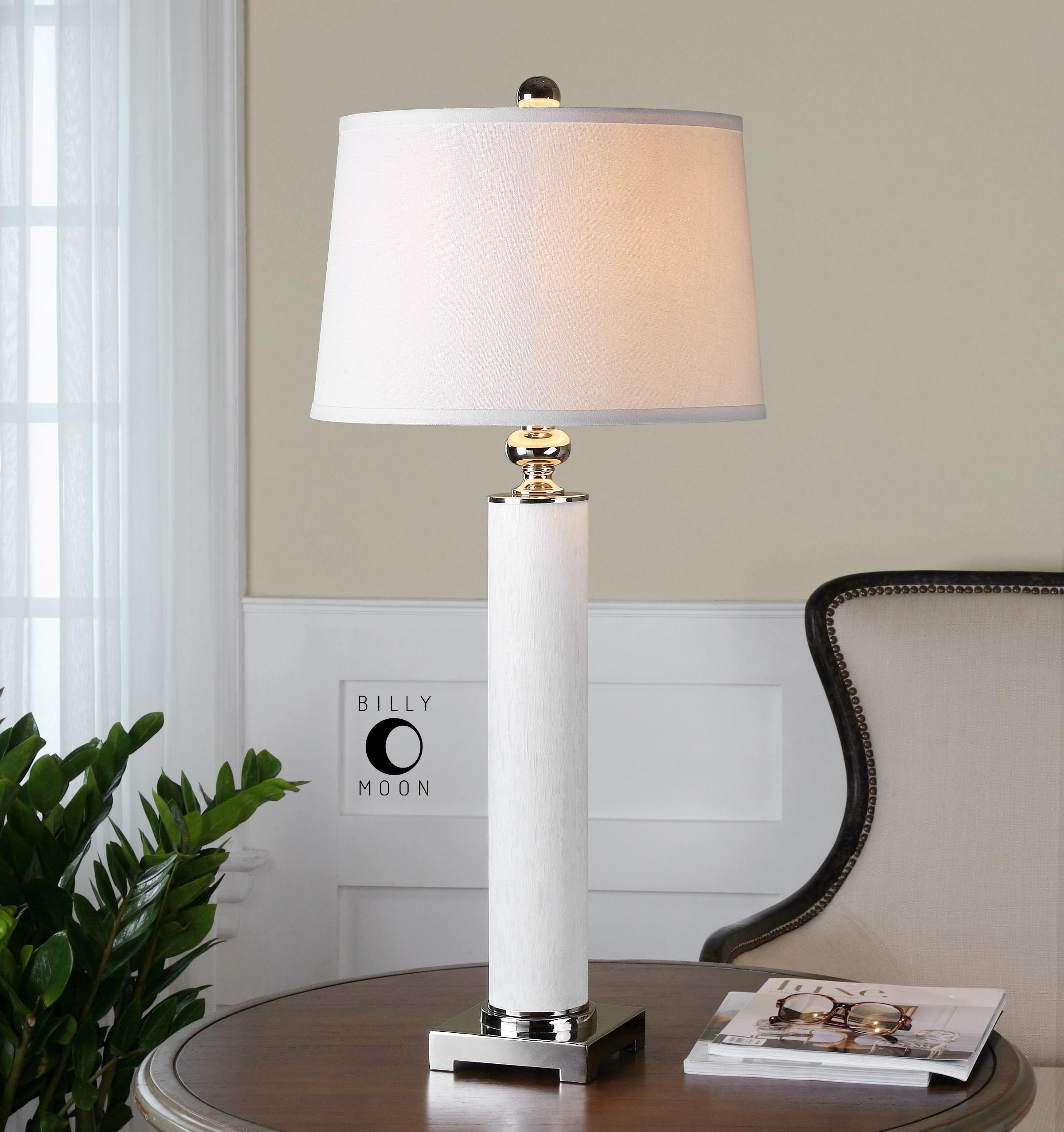 white glass lamp photo - 9
