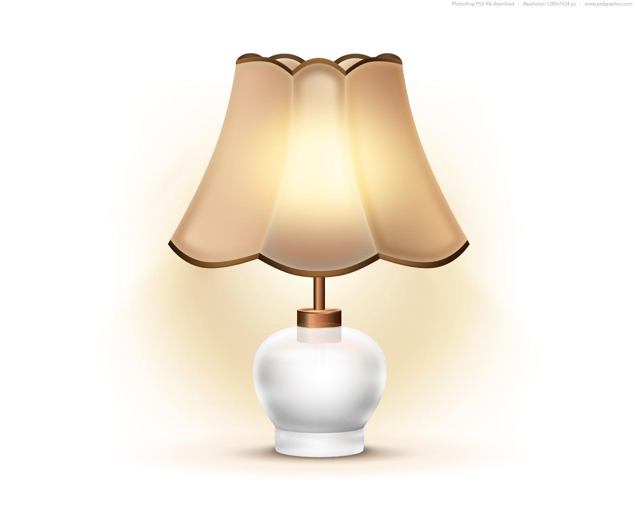 white lamp table photo - 3