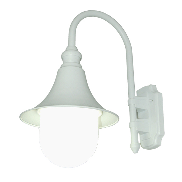 white outdoor wall light fixtures photo - 9