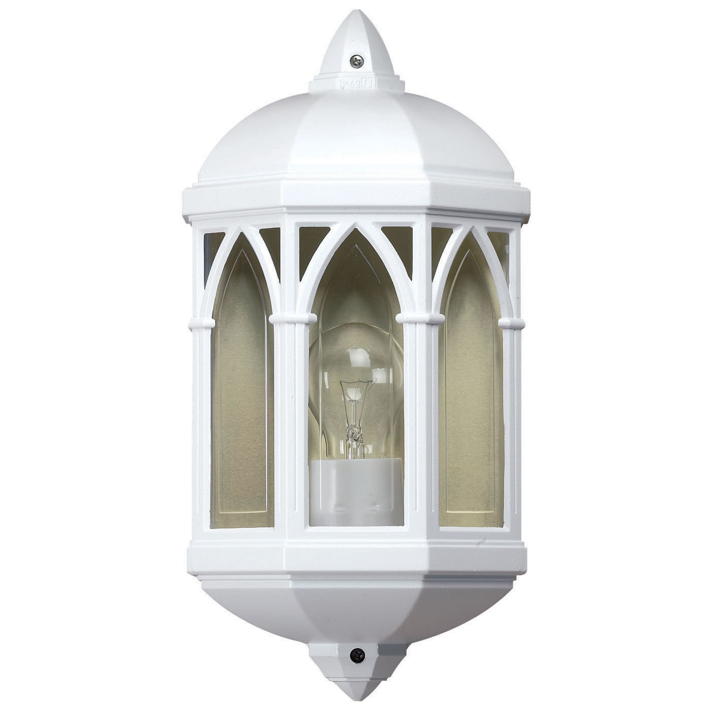 white outdoor wall lights photo - 1