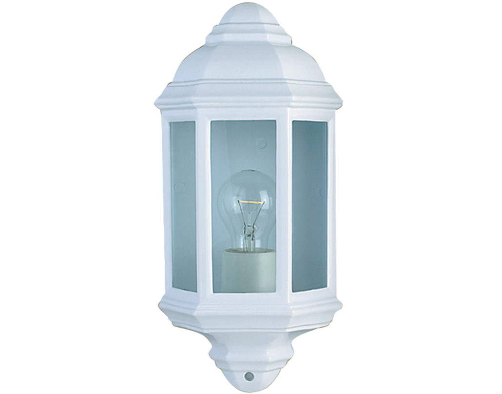 white outdoor wall lights photo - 10