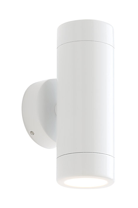 white outdoor wall lights photo - 2