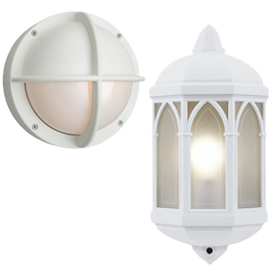 white outdoor wall lights photo - 8