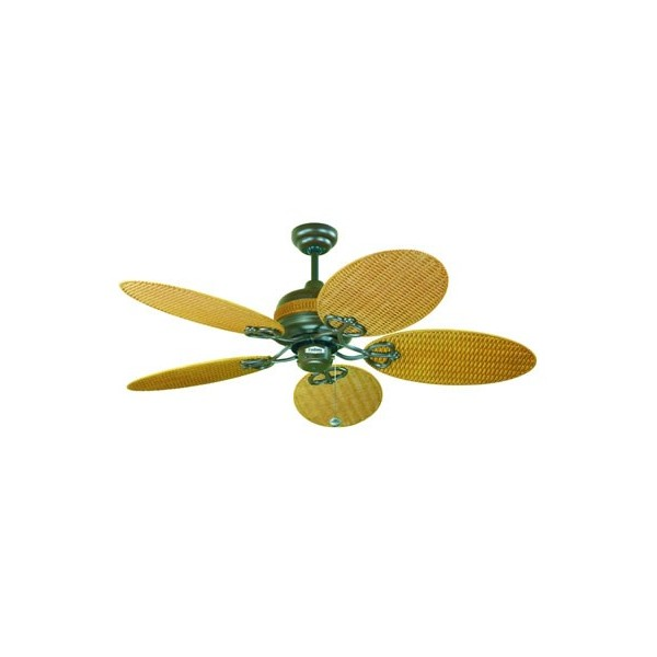 wicker ceiling fans photo - 1