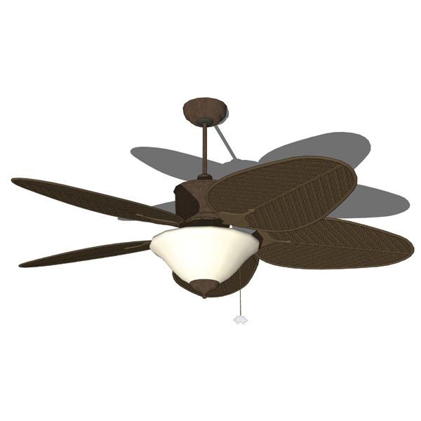 wicker ceiling fans photo - 5
