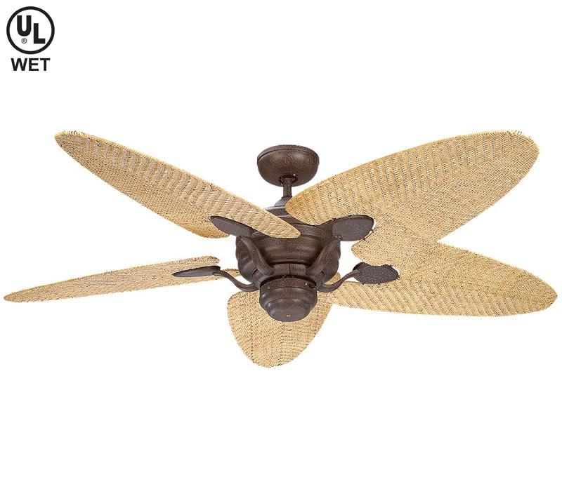wicker ceiling fans photo - 7
