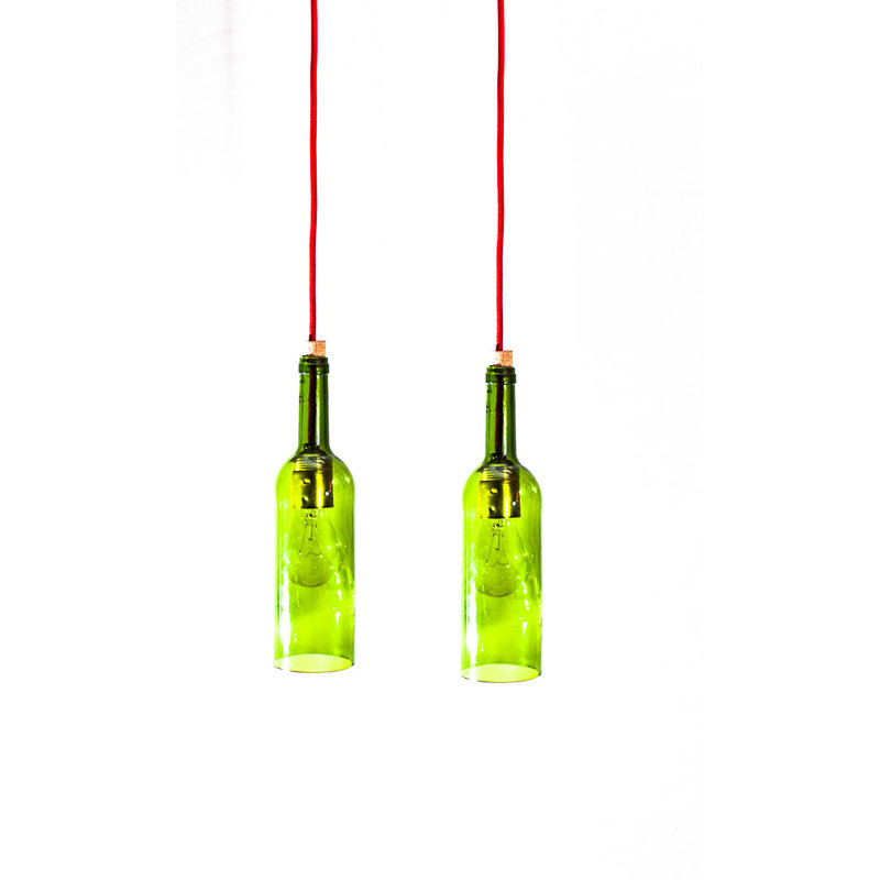 wine bottle ceiling light photo - 10