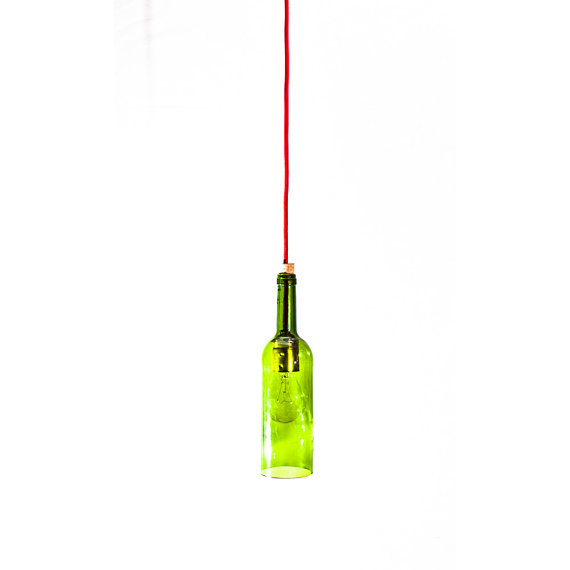 wine bottle ceiling light photo - 6