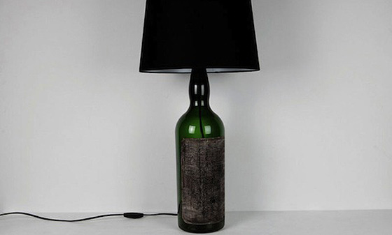 wine bottle lamp diy photo - 1
