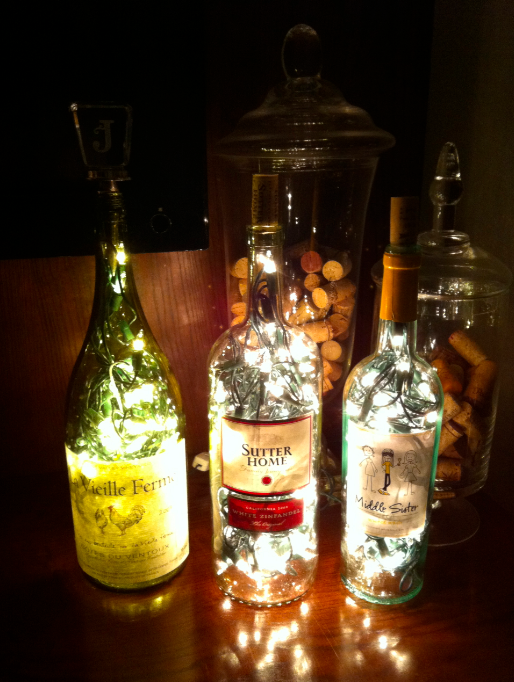 wine bottle lamp diy photo - 2