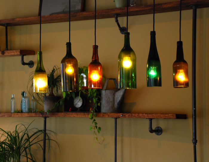 wine bottle lamp diy photo - 6