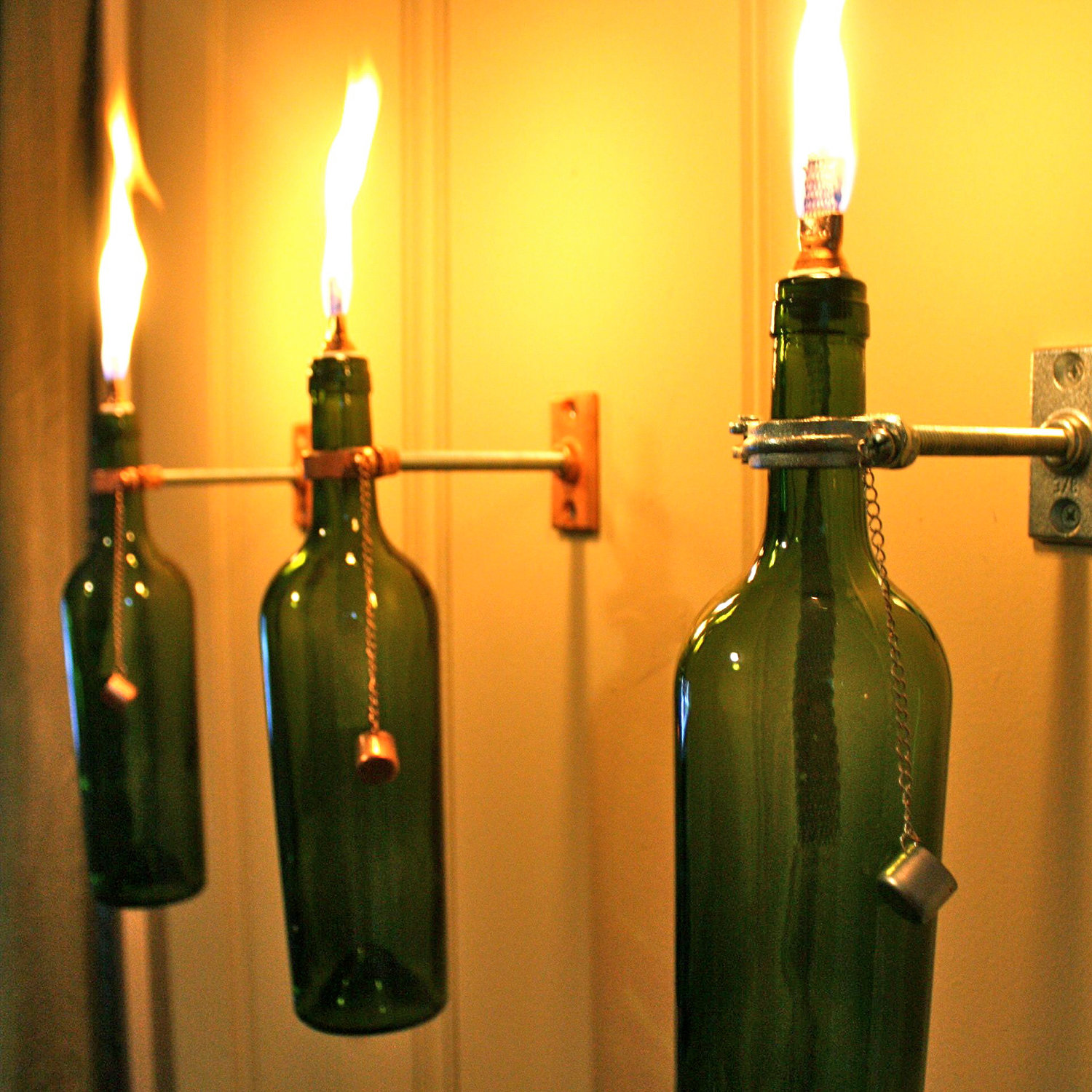 wine bottle oil lamp photo - 5